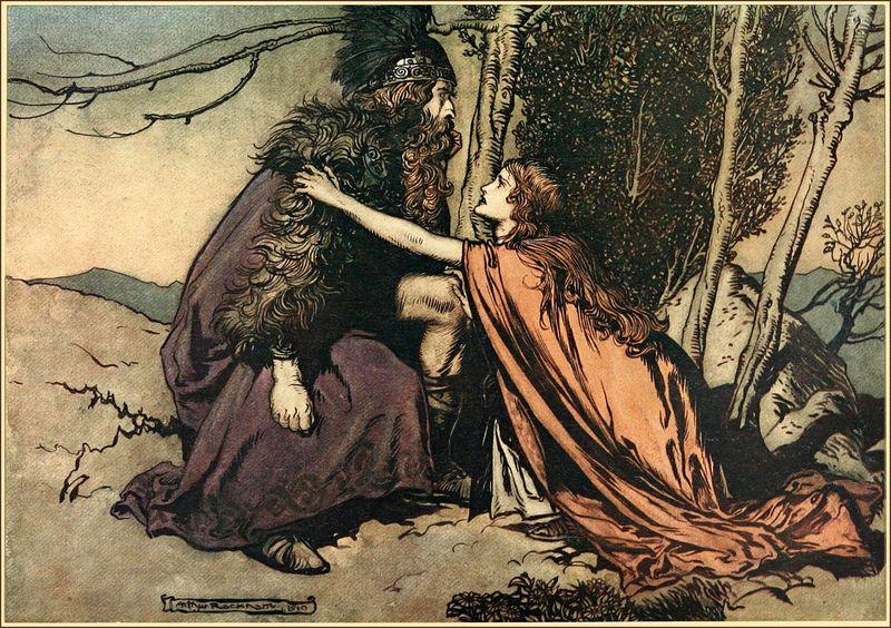 """Arthur Rackham's 1910 illustration for Wagner's """"Die Walküre"""""""
