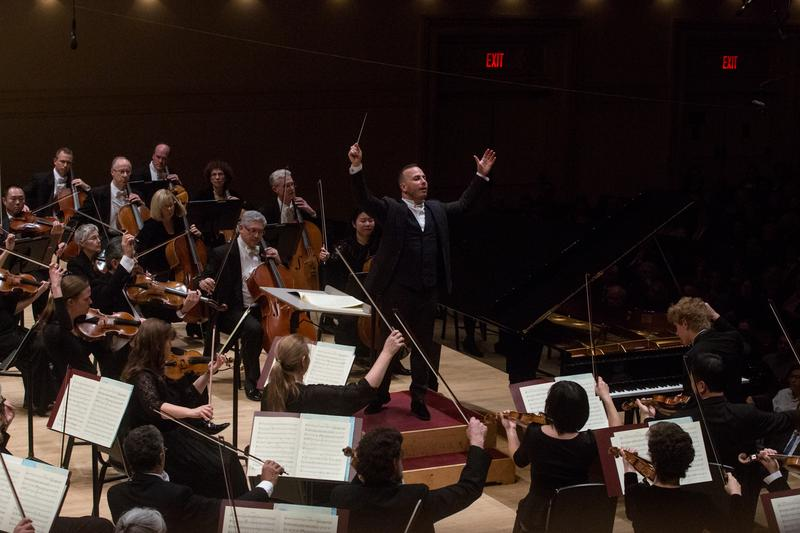 Yannick Nézet-Séguin leads the Philadelphia Orchestra at Carnegie Hall in 2016.