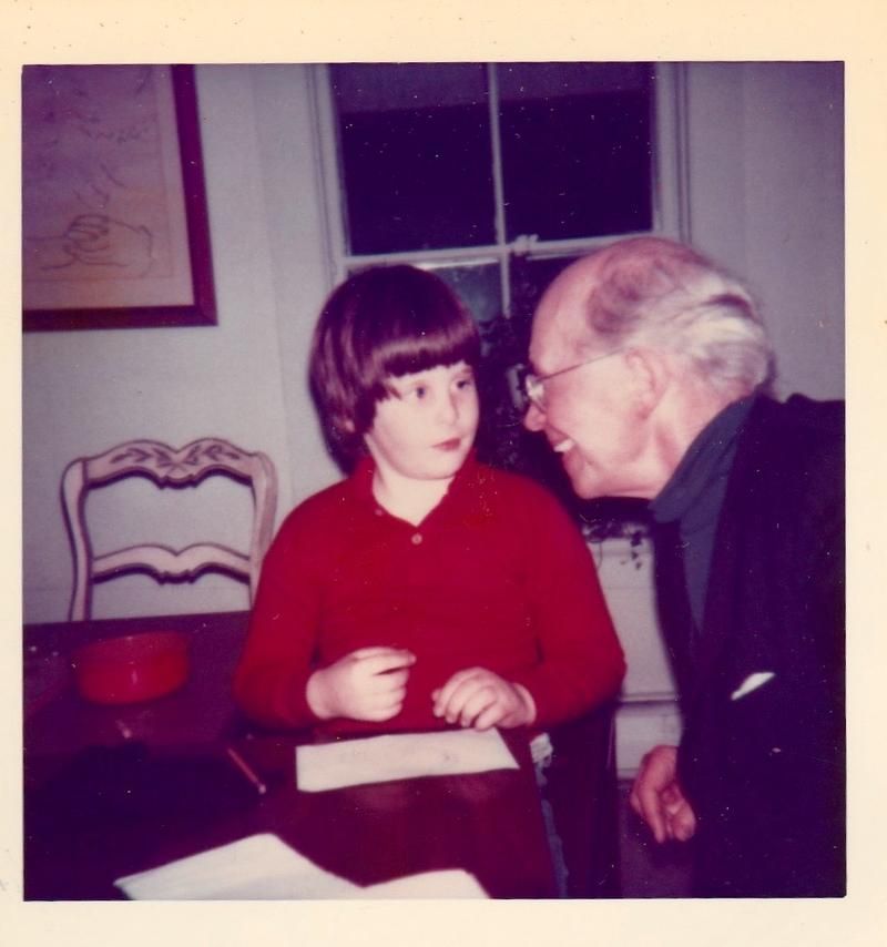 David Ludwig with his grandfather, Rudolf Serkin, at the Marlboro Music Festival.