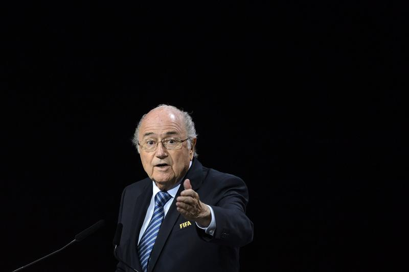 FIFA President Sepp Blatter delivers his speech at the opening of the 65th FIFA Congress in Zurich on May 29, 2015.