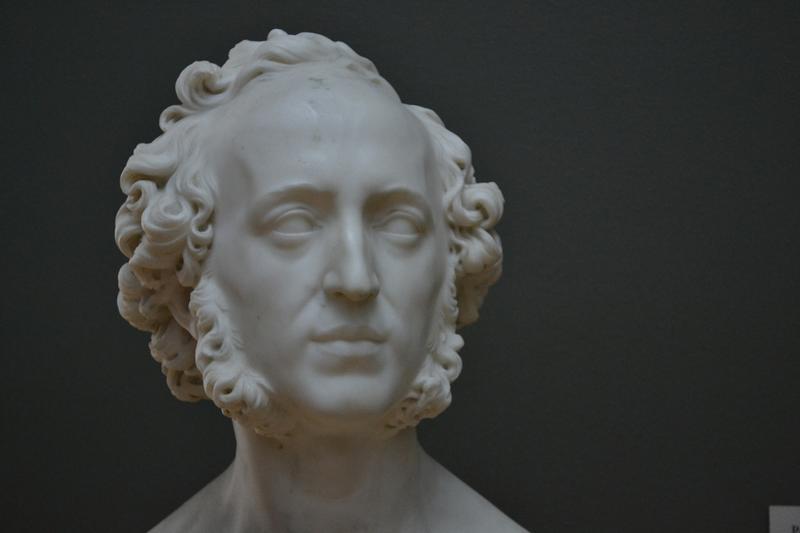 Marble Bust of Felix Mendelssohn by Ernst Friederich August Rietschel; 1848