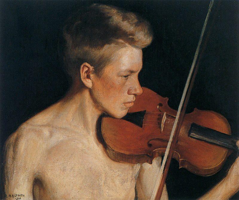 """The Violinist"" — Pekka Halonen (1900)"