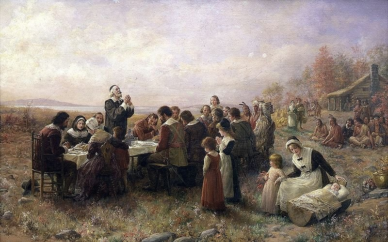The First Thanksgiving at Plymouth (1914)