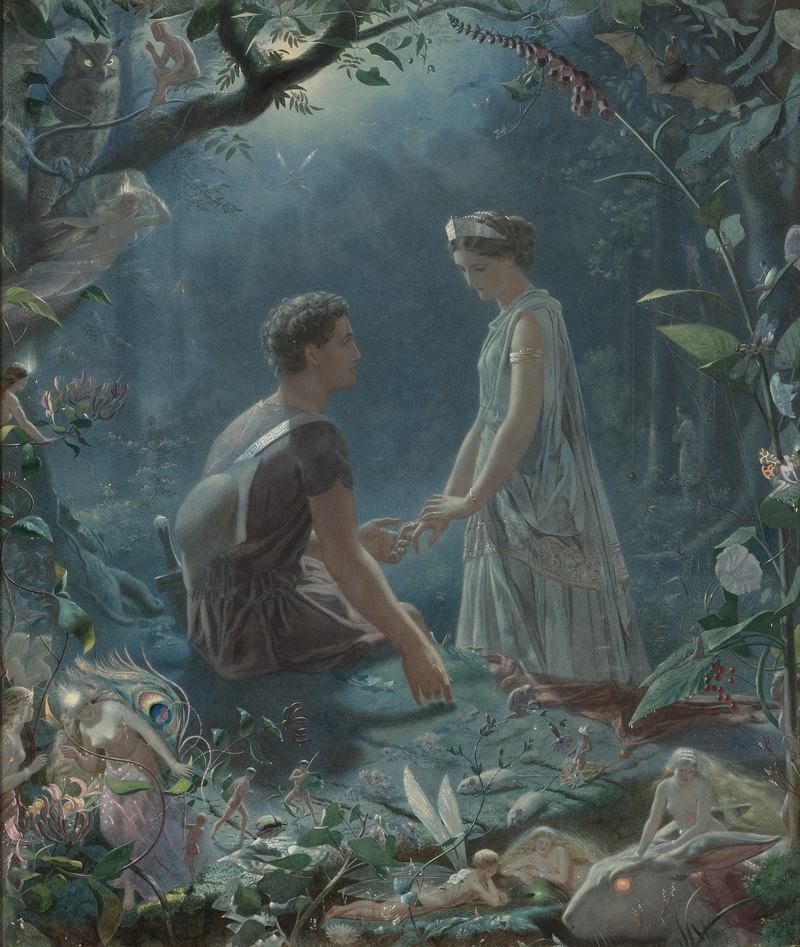 'Hermia and Lysander. A Midsummer Night's Dream' by John Simmons.