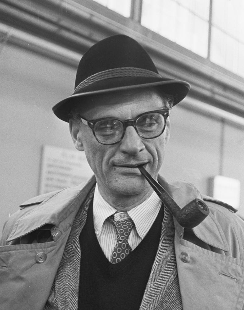 Arthur Miller is pictured in 1966.