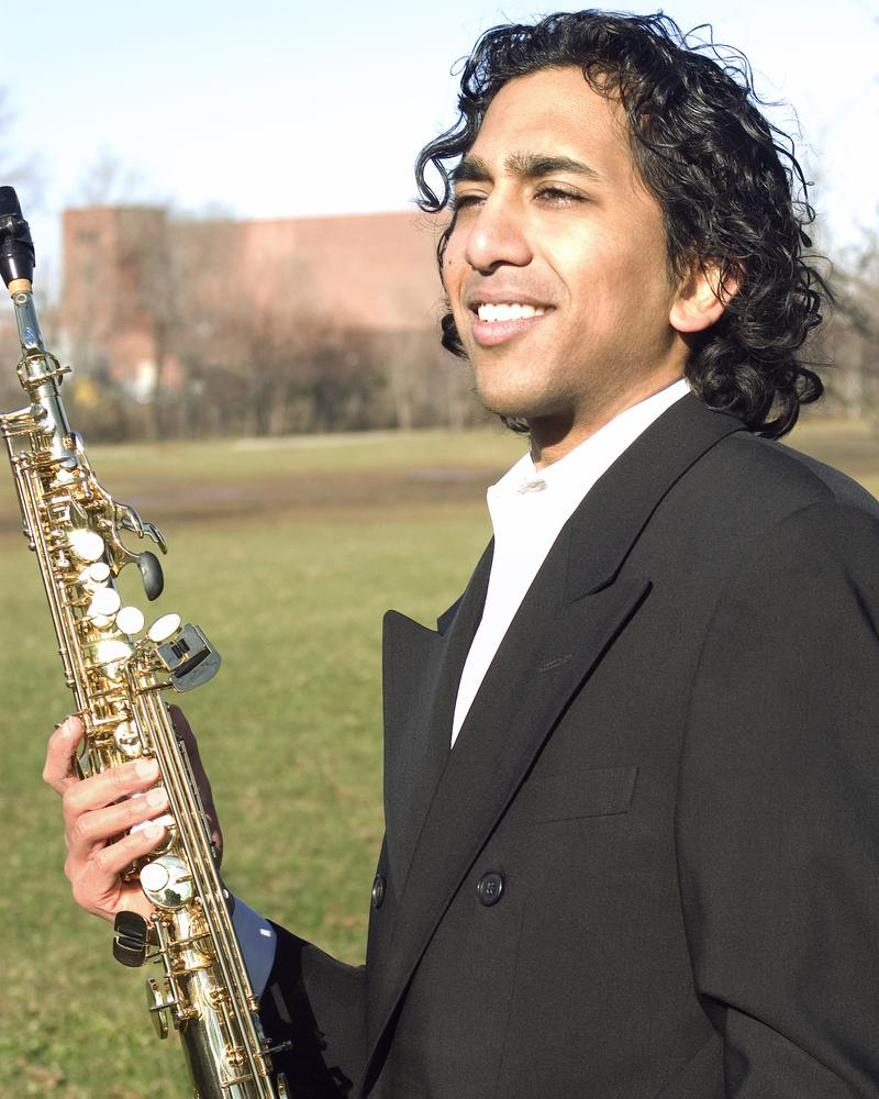Saxophonist Ashu.