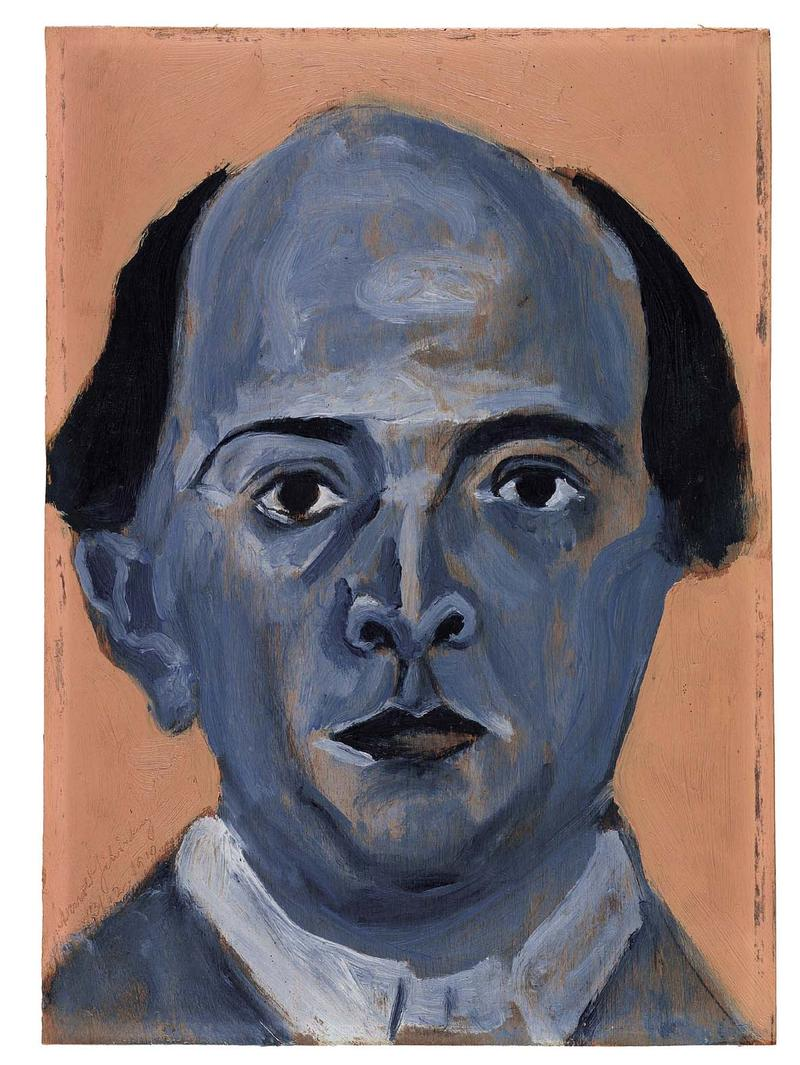 'Blue Self Portrait' by Arnold Schoenberg
