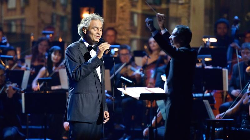 Andrea Bocelli's album 'Cinema' was one of the top selling classical albums of 2016