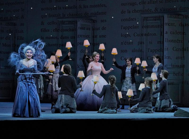 Kathleen Kim as the Fairy Godmother and Joyce DiDonato in the title role of Massenet's Cendrillon.