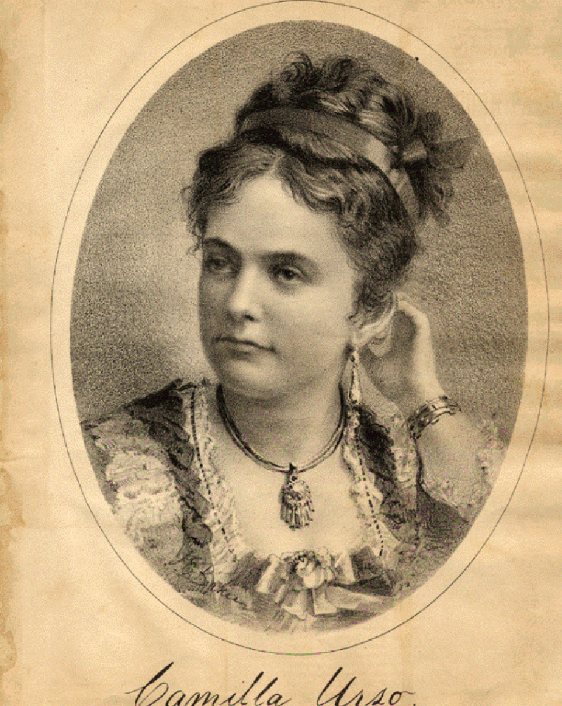 Violinist Camilla Urso.
