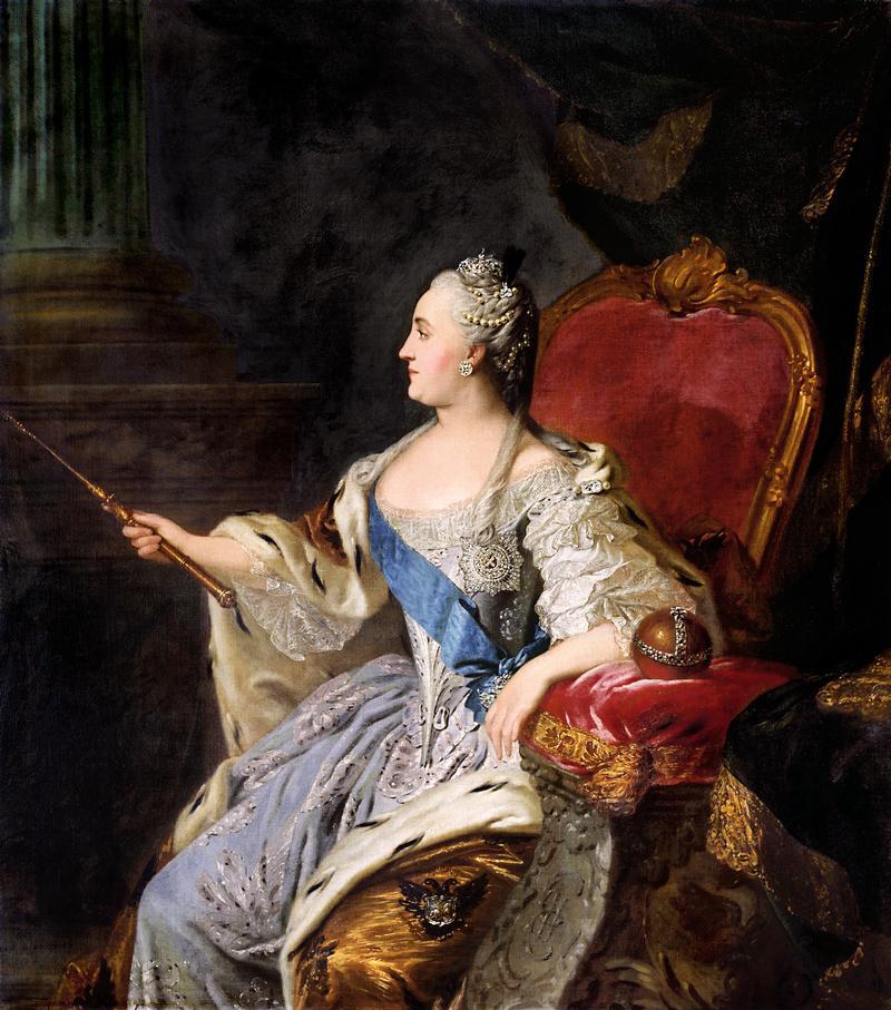 The Empress Catherine the Great, opera super-fan.