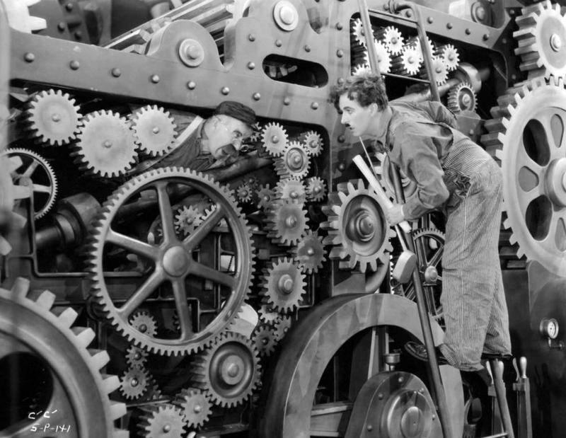 Charlie Chaplin in 'Modern Times'