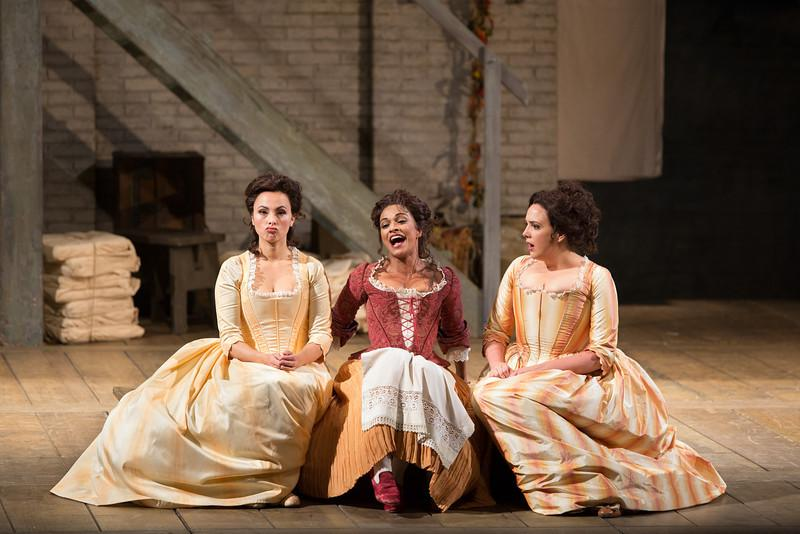 "Isabel Leonard as Dorabella, Danielle de Niese as Despina, and Susanna Phillips as Fiordiligi in Mozart's ""Così Fan Tutte.'"