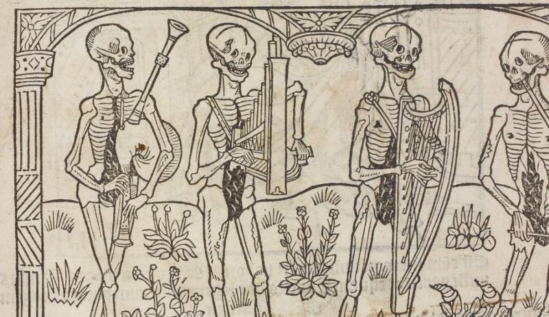 Danse Macabre in French Manuscript 1531
