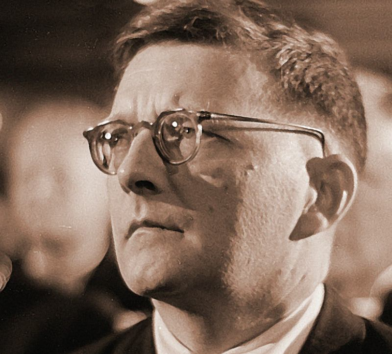 Dmitry Shostakovich captured in 1950.
