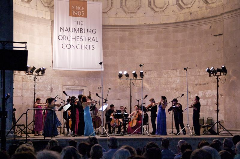 The East Coast Chamber Orchestra play at the Naumburg Bandshell on Aug. 4, 2015.