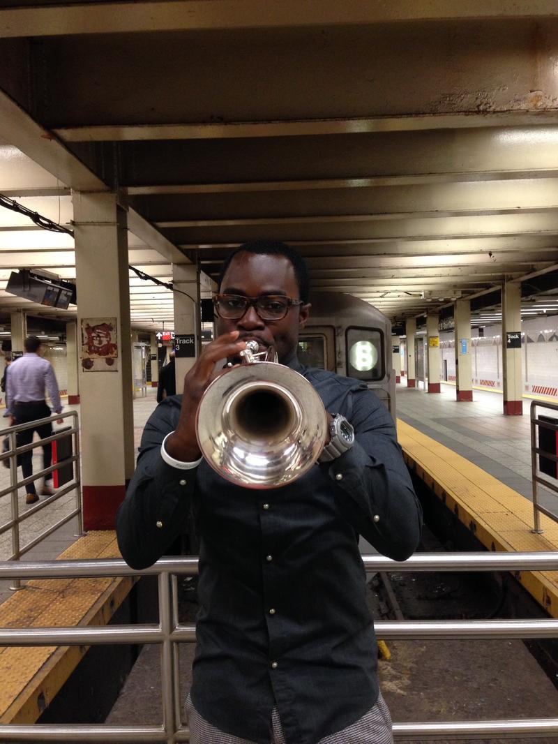 Trumpeter Eganam Segbefia.