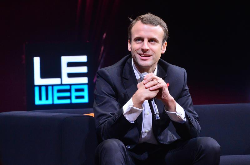 Emmanuel Macron at a 2014 digital technology conference.