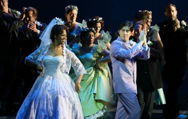 Pretty Yende as Susanna and Roberto Tagliavini as Figaro.