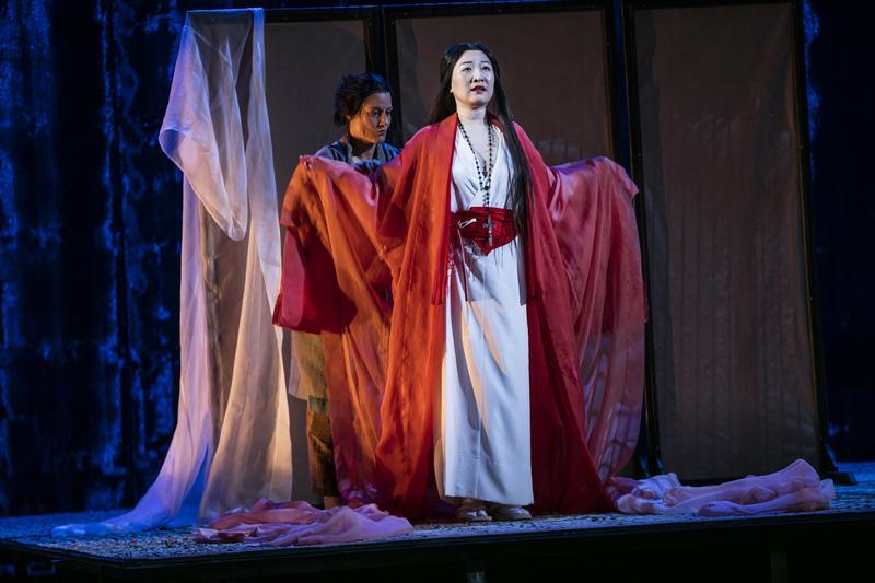 Katarina Giotas as Suzuki and Jung Nan Yoon as Cio-Cio San star in 'Madama Butterfly.'
