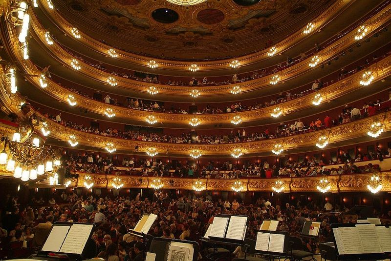 Spain's Gran Teatre del Liceu in Barcelona.