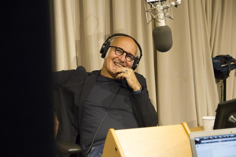 Ludovico Einaudi in the WQXR studios.