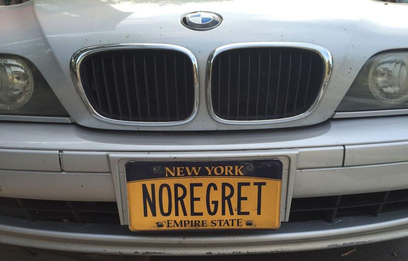Vanity license plate spotted in NYC.