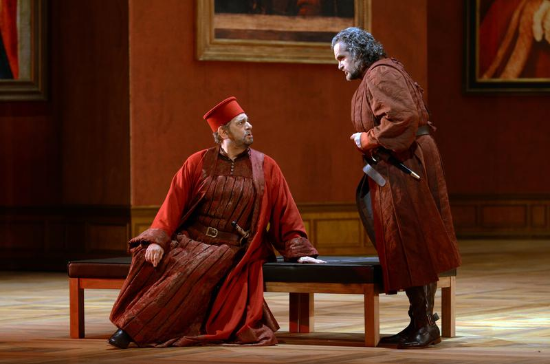 Placido Domingo as Count di Luna and Riccardo Zanellato as Ferrando in Verdi's 'Il Trovatore' From the 2014 Salzburg Festival.