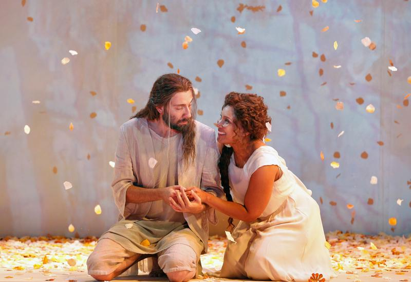 Matthew Boehler and Talise Trevigne star in Bard's production of 'Iris.'