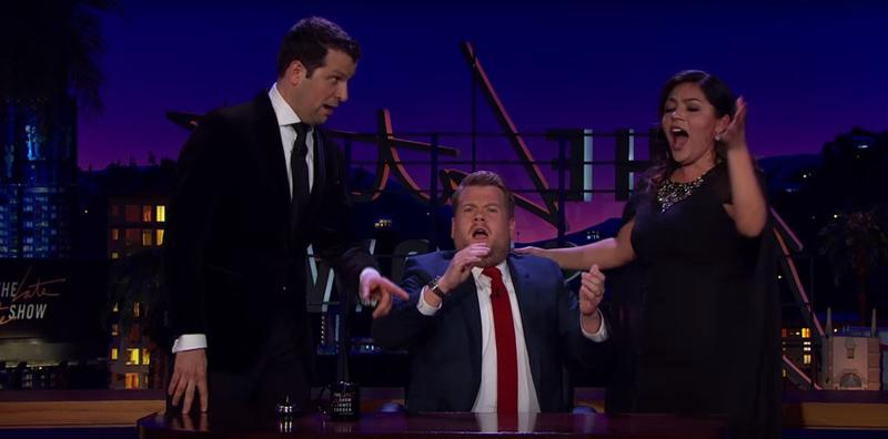 Baritone Luca Pisaroni and soprano Ailyn Perez appear on The Late Late Show with James Cordon.