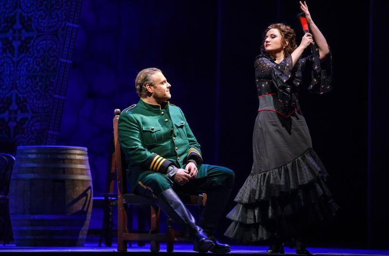 "Joseph Calleja as Don José and Ekaterina Gubanova as the title character in Bizet's ""Carmen."""
