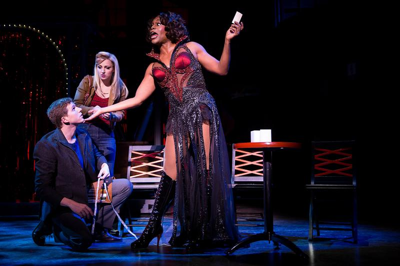Stark Sands, Annaleigh Ashford and Billy Porter in <em>Kinky Boots</em>.