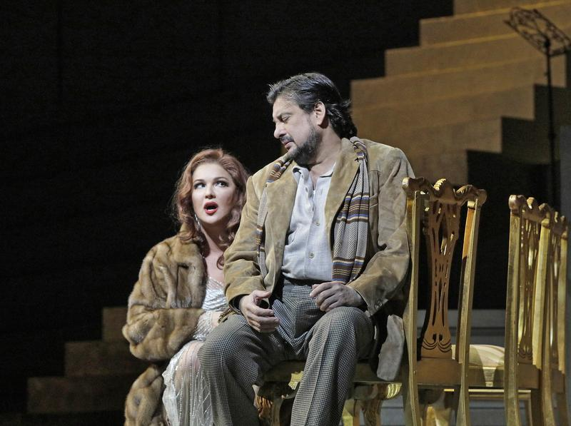 Anna Netrebko in the title role and Marcelo Álvarez as des Grieux in Puccini's Manon Lescaut.