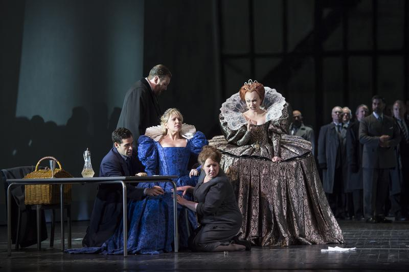 Donizetti 's 'Maria Stuarda' at the Royal Opera House, Covent Garden in London starring mezzo-soprano Joyce DiDonato and soprano Carmen Giannattasio.