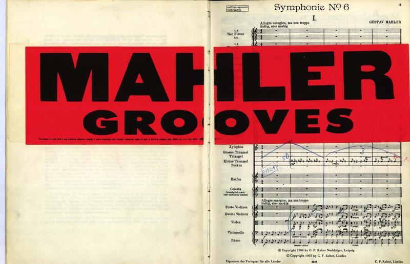 Leonard Bernstein's score of Mahler's Sixth Symphony.