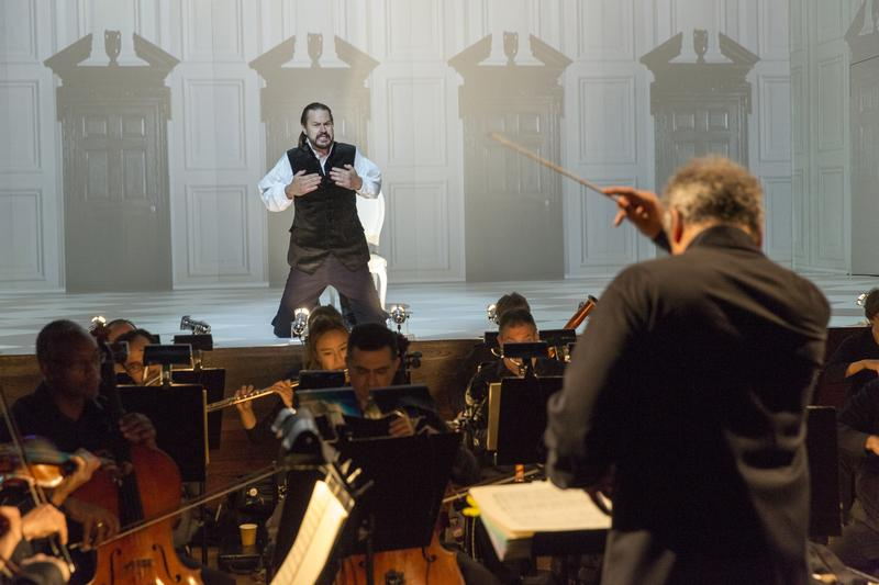 Peter Mattei performs in 'The Illuminated Heart,' conducted by Louis Langree and presented by the Mostly Mozart Festival.