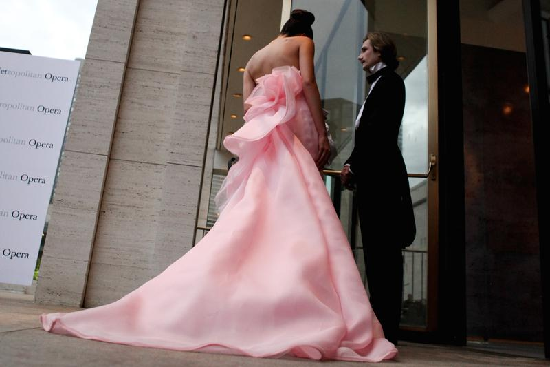 A scene from the red carpet at the opening night of the Metropolitan Opera, Sept. 21, 2015