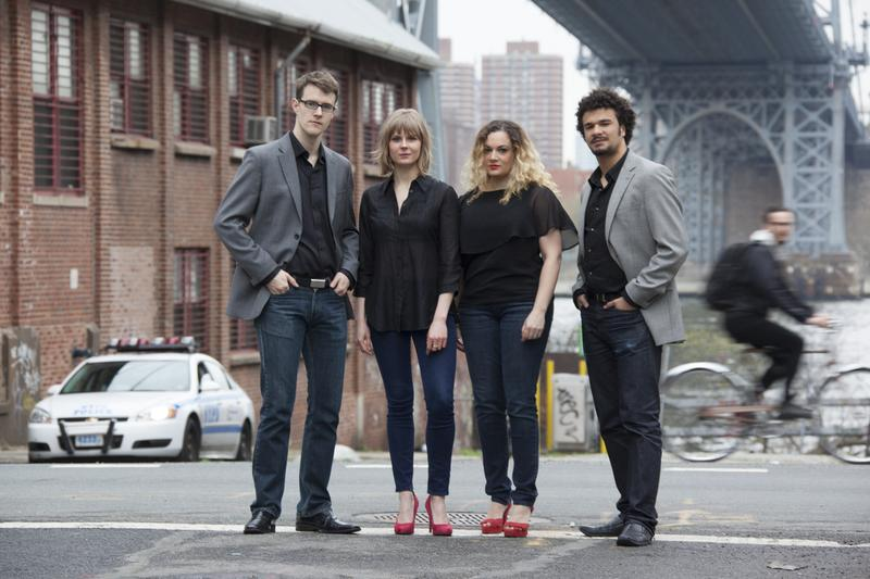 New York-based PUBLIQuartet often pairs classical and contemporary works with  jazz, world, and electro-acoustic music.