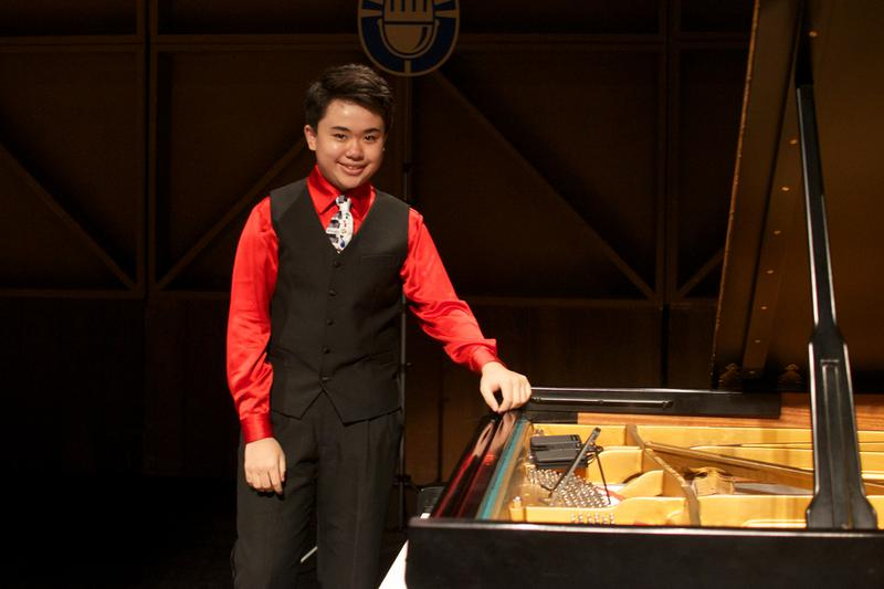 Pianist Patrick Pan, age 15 from Houston.