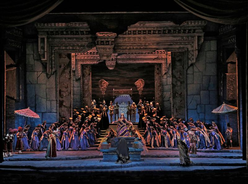 "A scene from Act I of Rossini's ""Semiramide."""