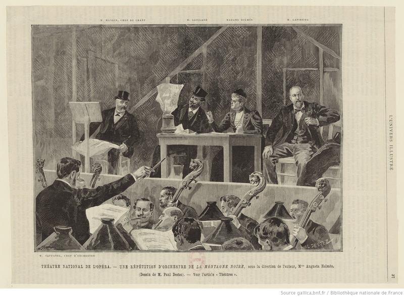 """Holmès at Rehearsals for her Opera """"De La Montagne Noire"""""""