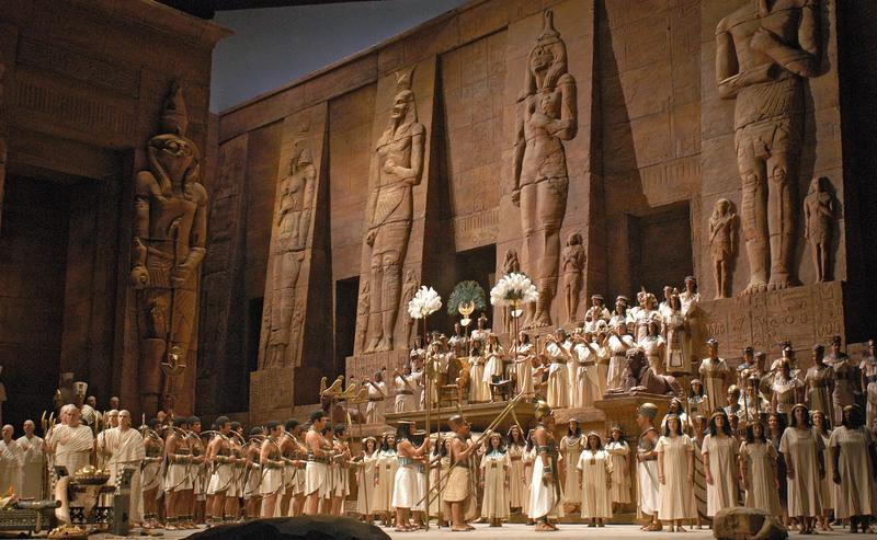 A scene from Act 2 of Verdi's 'Aida'
