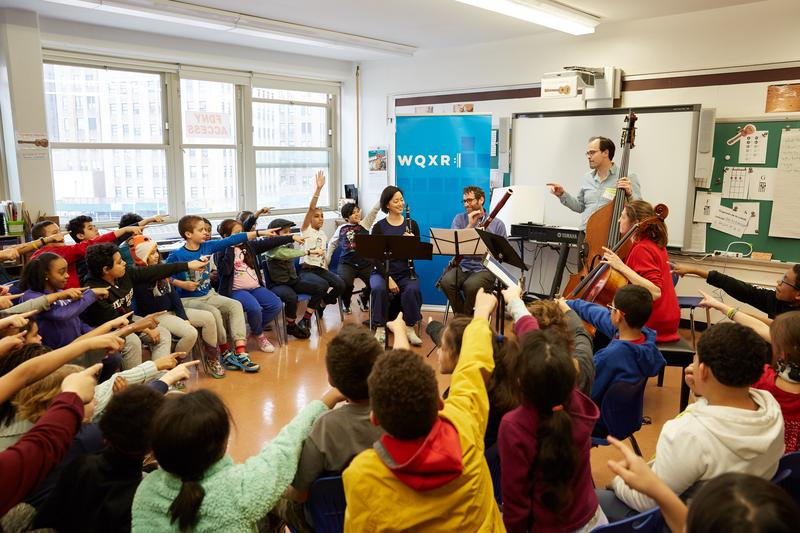 A WQXR-hosted concert at P.S. 14 in Queens on March 20, 2018.
