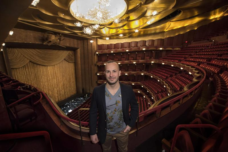 Yannick Nézet-Séguin stands in the Metropolitan Opera house, where he'll be the next music director.