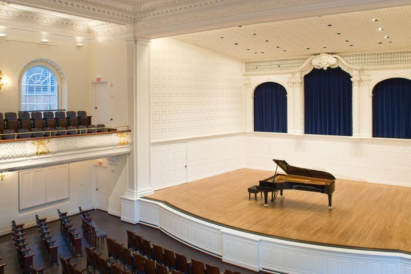 Interior of Morse Recital Hall.