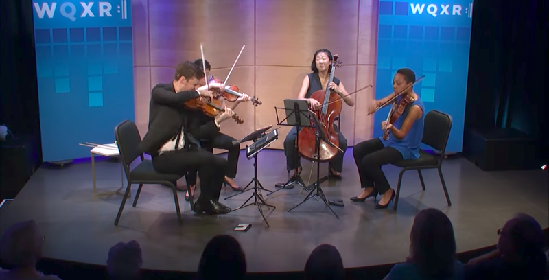 The Argus Quartet performs in the Greene Space.
