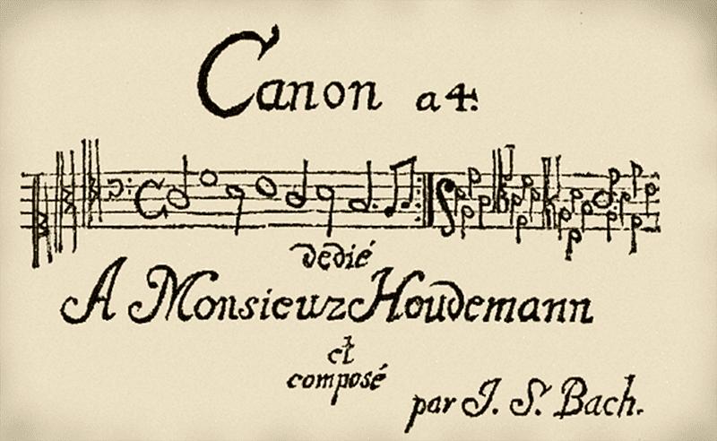 J.S. Bach's 'Hudemann Canon'