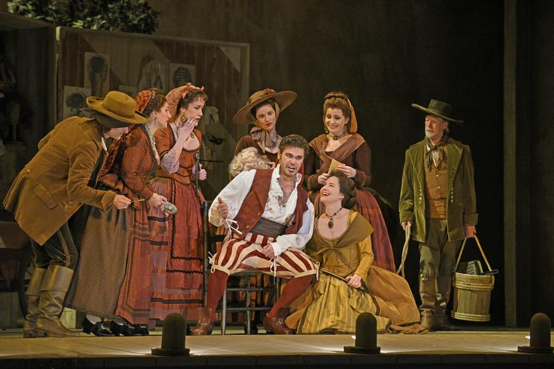 "Elliot Madore as Figaro in Rossini's ""The Barber of Seville"""