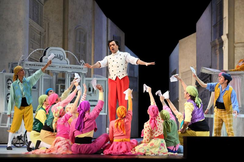 "A scene from Rossini's ""The Barber of Seville."""