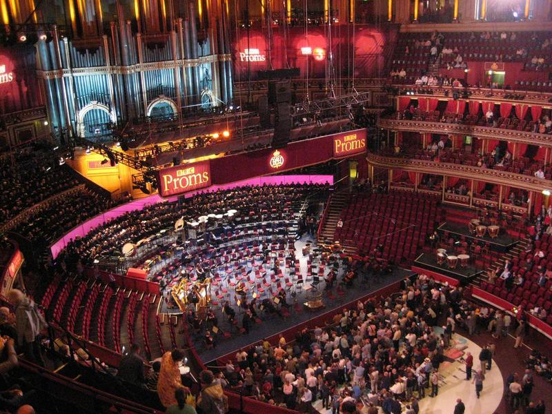 The BBC Proms in Royal Albert Hall.